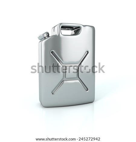 Fuel container canister. 3d illustration isolated on white - stock photo