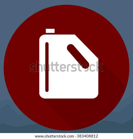 Fuel container or gas can - stock photo