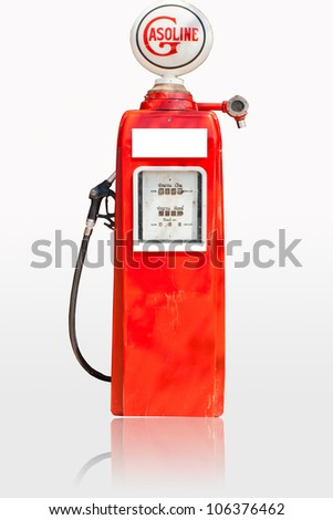 Fuel dispensers on a white background - stock photo