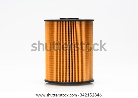 fuel filter, auto spare part, on the isolated white background