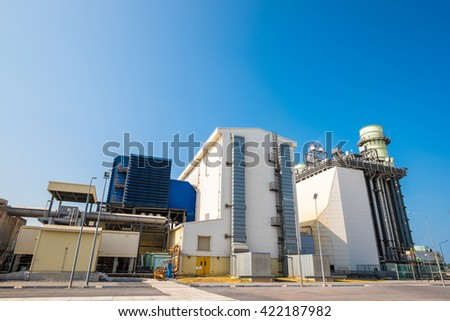 Fuel gas combine cycle power plant - stock photo