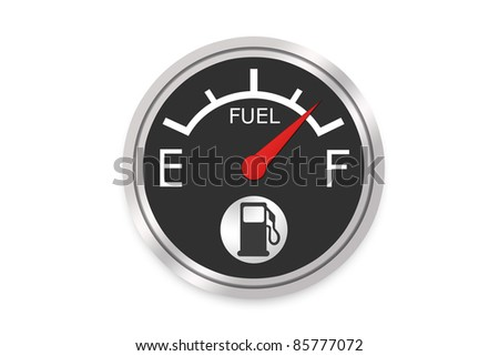 Fuel Gauge - High Resolution Image - stock photo