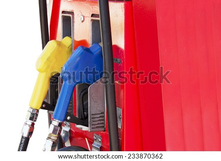 Fuel pump in the gas station - stock photo