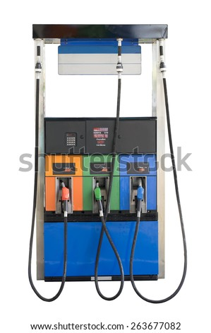 Fuel pump isolate on white background with clipping path - stock photo