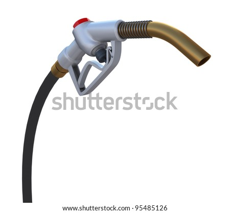 Fuel pump nozzle. Front view. 3d rendering