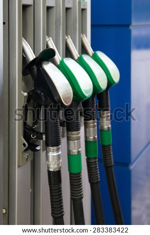 Fuel pumps petrol - stock photo