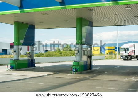 fuel station - stock photo