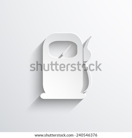 fuel station web flat icon illustration. - stock photo
