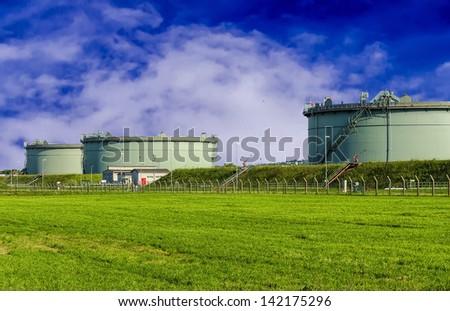 Fuel Storage Tanks. - stock photo