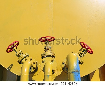 Fuel tank with pipeline - stock photo