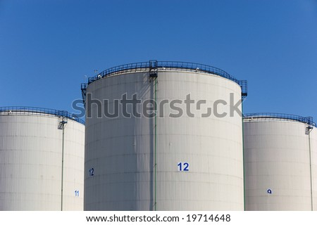 Fuel tanks - stock photo