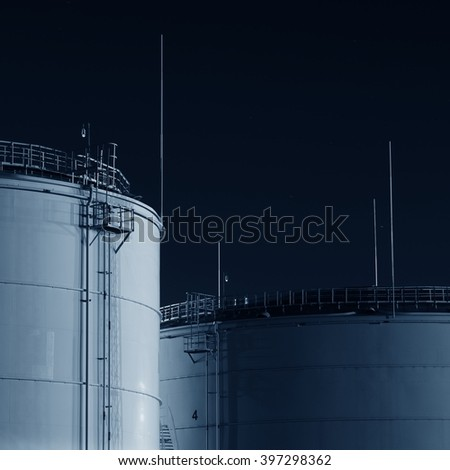 Fuel tanks in the port - stock photo