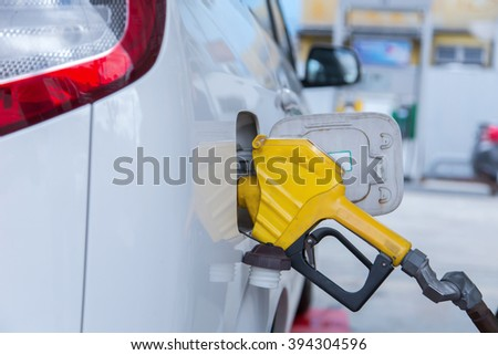 Fuel up the natural gas vehicle (NGV).