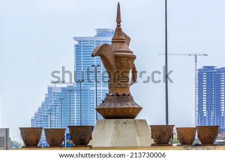 FUJAIRAH, UAE - SEPTEMBER 27, 2012: Views of the City Fujairah. Fujairah - is one of the seven emirates that make up the United Arab Emirates. - stock photo