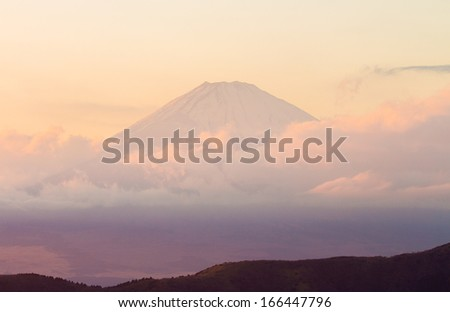 Fuji, the landmark of japan. - stock photo