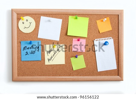 Full board of notes and to-does - stock photo