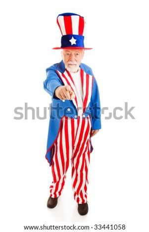 Uncle Sam Full Body Black And White