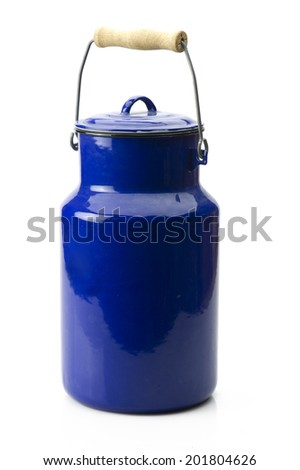 Full body of an old antique can - stock photo
