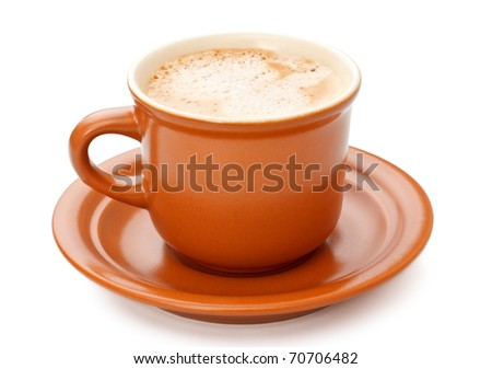 Full Coffee Cup - stock photo