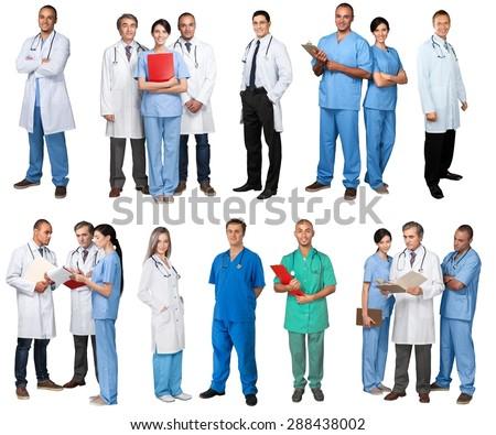 Full, doctor, length. - stock photo