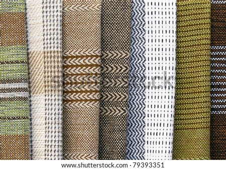 Full frame background, traditional hand-woven wool fabrics - stock photo