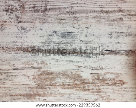 Full Frame Close Up of Rustic Weathered Paint Peeled Wooden Slat Background - stock photo