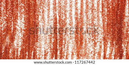 Full frame red sequins curtain background texture. - stock photo