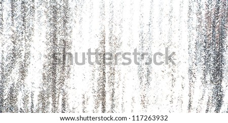 Full frame silver sequins curtain background texture. - stock photo
