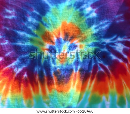 full frame view of tie dye clothing - stock photo