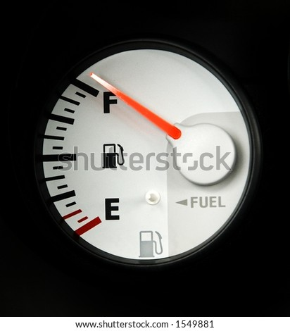 full fuel guage - stock photo
