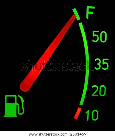 full fuel tank - stock photo