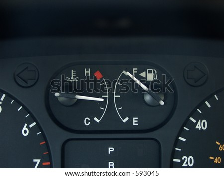 full gas gauge - stock photo