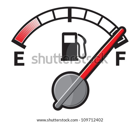 Full gas tank - stock photo