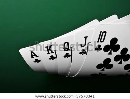 full house of poker - stock photo