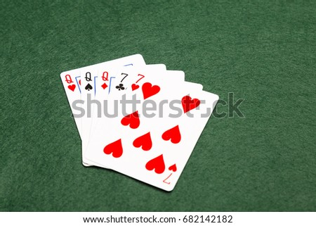 Full house, the fourth highest value hand in poker. Three cards of the same value supported by two cards of the same value