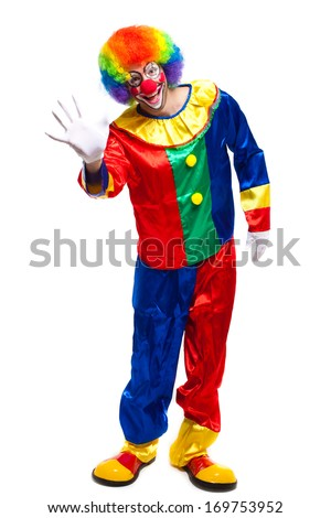 Full length clown portrait  - stock photo