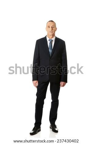 Full length confident businessman standing. - stock photo