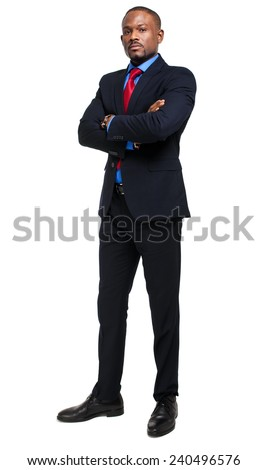 Full length male manager - stock photo