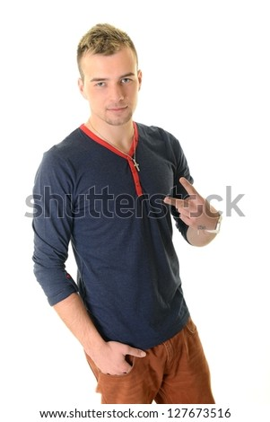 Full length portrait of a stylish young man