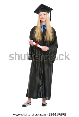 Full Length Portrait Happy Young Woman Stock Photo 134419598 ...