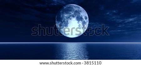 Full-moon - stock photo