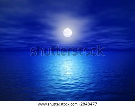 full moon (3d render image) - stock photo