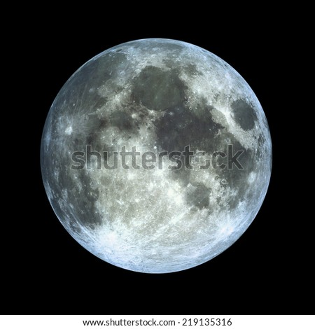 Full Moon HD - stock photo
