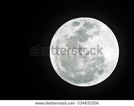 Full Moon /  Moon is Earth's only permanent natural satellite. It is the fifth-largest natural satellite in the Solar System, and the largest among planetary satellites