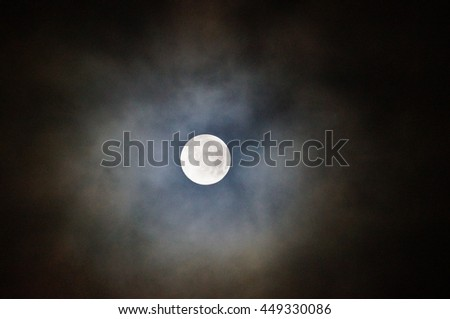 full moon with black sky