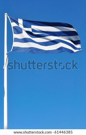 Full national flag of Greece - stock photo