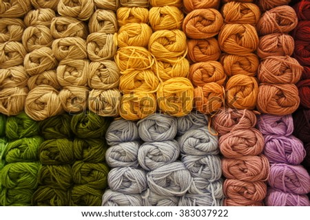Full of knitting yarns - stock photo