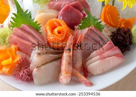 Full of Sashimi - stock photo