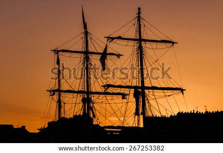 Full-rigged ship in Nantes - France - stock photo