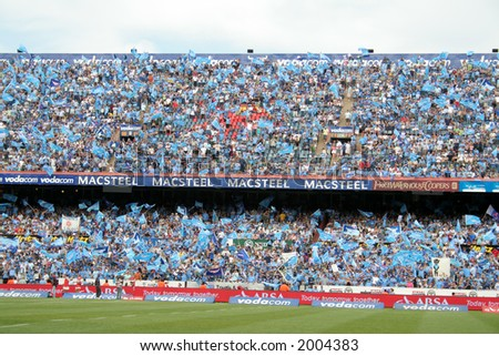 Full rugby stadium - stock photo
